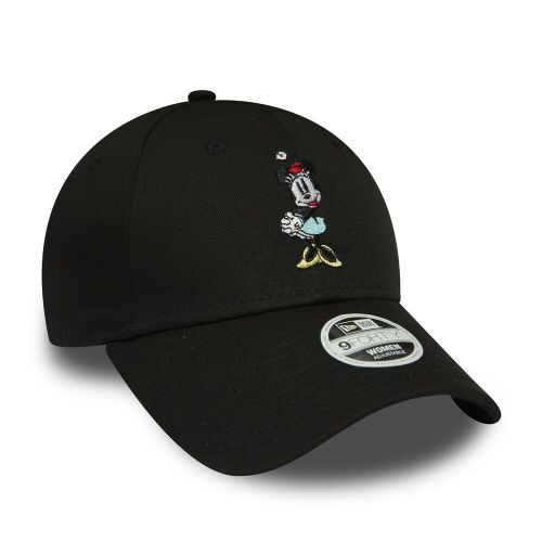 NEW ERA 9FORTY WOMENS MINNIE MOUSE BASEBALL CAP.DISNEY BLACK CURVED PEAK HAT 9S2